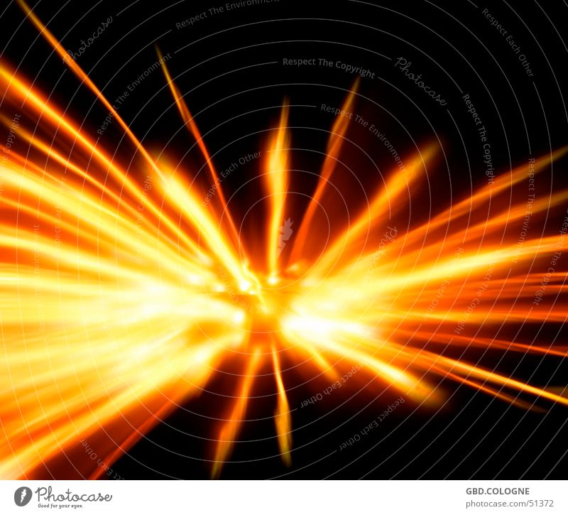 Big bang? Beam of light Orange Yellow Big Bang Awareness Movement Long exposure Night shot Fire Zoom effect Obscure