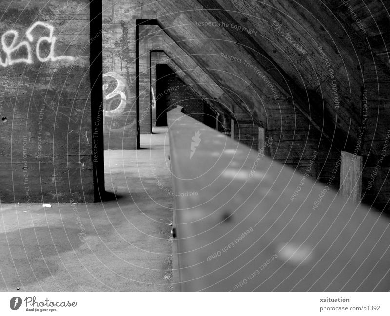Old White Black Lanes & trails Perspective Industrial Photography Culture End Corridor The Ruhr Duisburg Mine