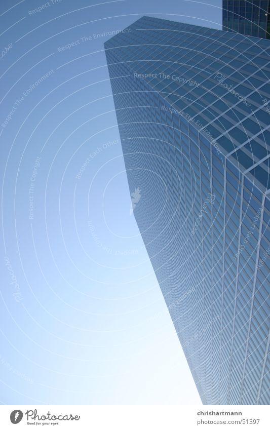 Sky Blue Cold Glass High-rise Skyline