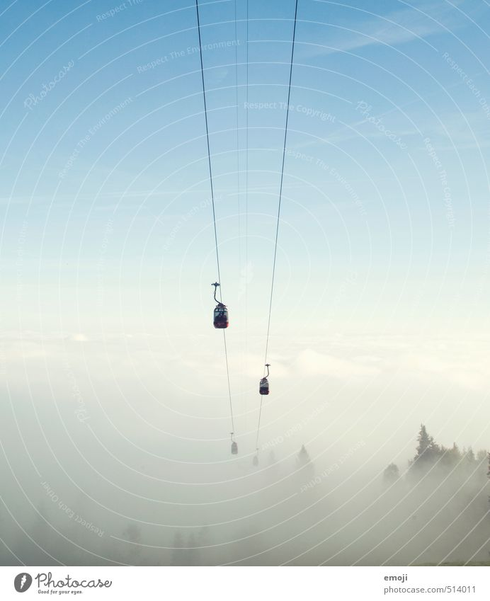nothing and nothing again Environment Nature Sky Sky only Autumn Fog Hiking Exceptional Natural Leisure and hobbies Cable car Gondola Colour photo