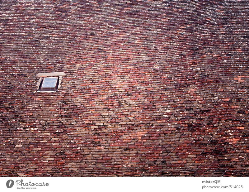 French Style X Village Esthetic Symmetry France Roof Skylight Roofing tile Attic story Pitch of the roof Many Brick Window Hollow Colour photo Subdued colour