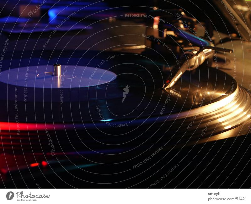 turntable 3/3 Record player Turntable Hip-hop Techno Disc jockey Lie Pick-up head Pop music Disco Club Event Crash Handbill Concert Music electro tekkno