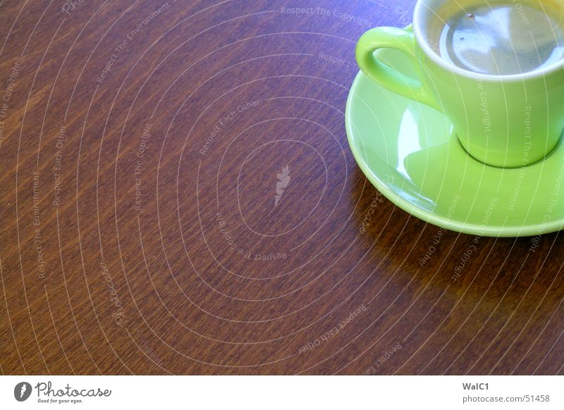 Café sans lait Espresso Cup Saucer Green Break Wood Beech tree Brown Coffee ikea Wood grain Structures and shapes