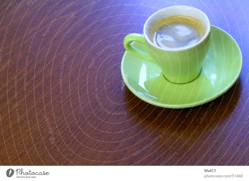 Caffeine (in green) Café Espresso Cup Saucer Green Break Wood Beech tree Brown Coffee ikea Wood grain Structures and shapes