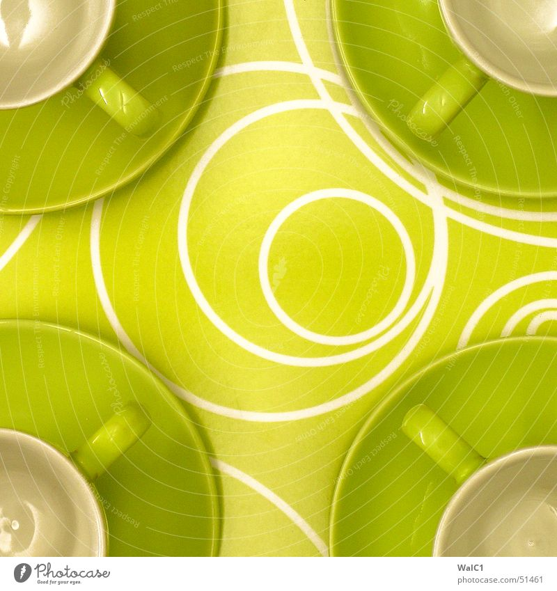 Ikea Idea Green Circle Cup Door handle Café Tray Break 4 Pottery Coffee Proffer ikea