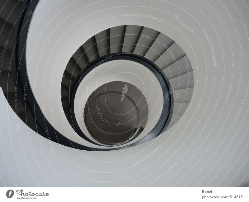 Design spiral staircase BLACK AND WHITE Art Exhibition Museum Architecture Culture Youth culture Subculture Downtown Old town Deserted