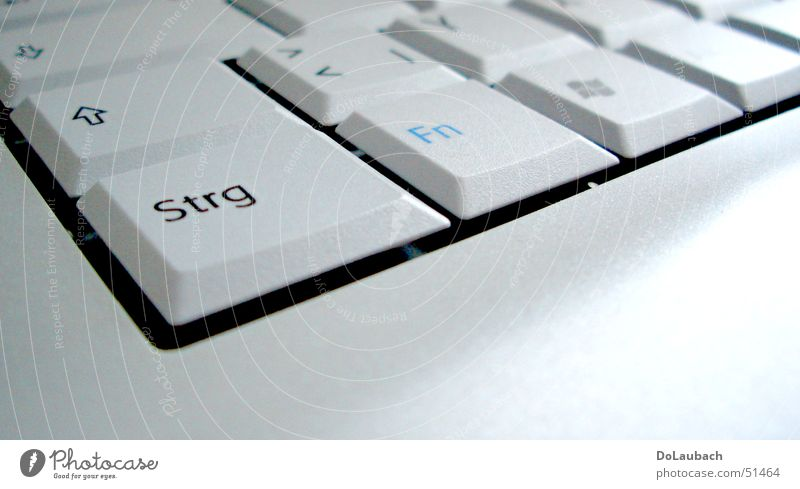 White Information Technology Bright Computer Letters (alphabet) Keyboard Notebook Copy Space Flat Partially visible Section of image Electrical equipment Ctrl