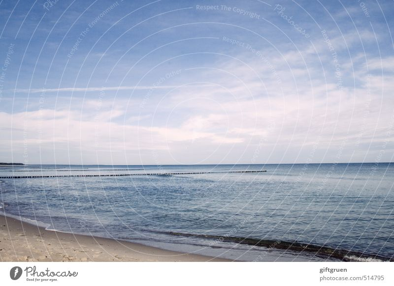 now what? Environment Nature Landscape Elements Sand Water Sky Horizon Summer Beautiful weather Waves Coast Beach Baltic Sea Blue Power Calm Bank reinforcement