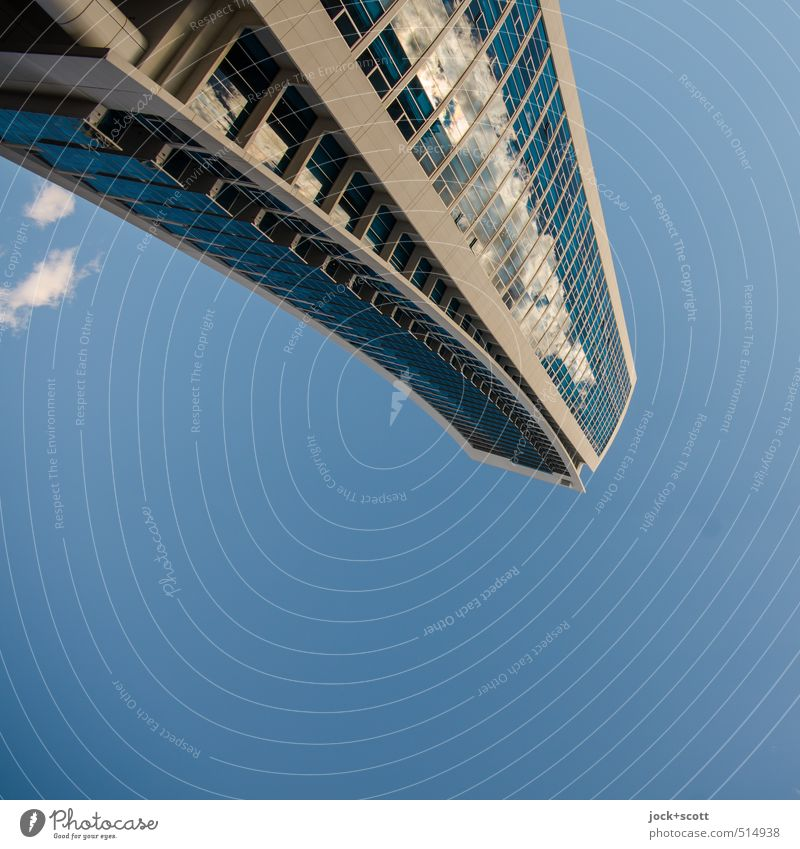 800 Sky Clouds Climate Beautiful weather Queensland High-rise Building Facade Free Long Modern Surrealism Environment Irritation Rotated Mirror surface Abstract