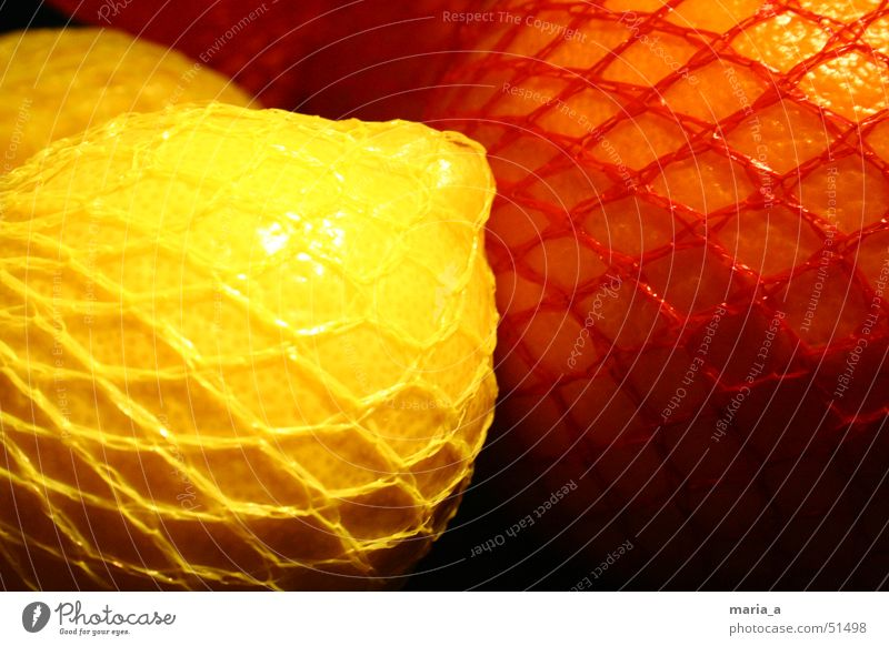 Lemon and Orange Red Yellow Light Dark Glittering Net