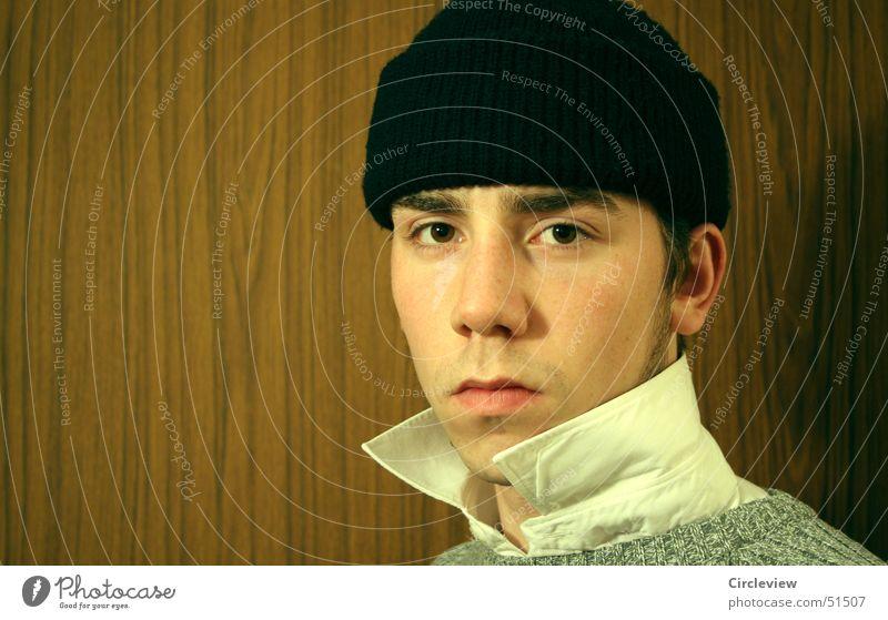 Human being Face Eyes Head Mouth Nose T-shirt Ear Shirt Cap Collar Baseball cap
