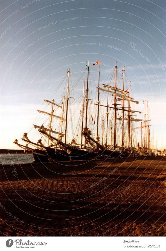 Summer Harbour Sailing Denmark Sailing ship Watercraft Scandinavia Tall ship Aerø Funen