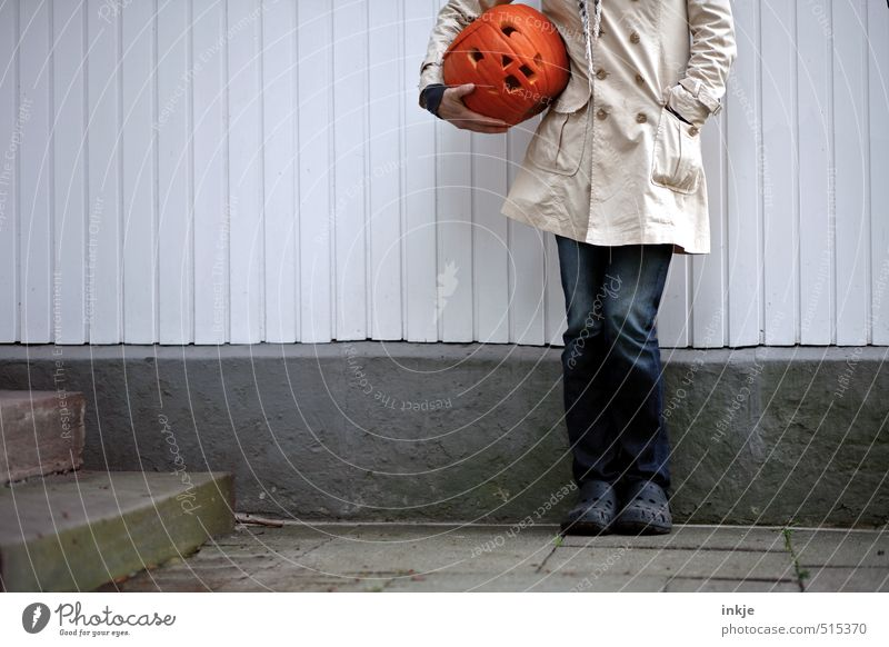 so I'm good to go! Pumpkin Lifestyle Joy Leisure and hobbies Thanksgiving Hallowe'en Woman Adults Body 1 Human being 30 - 45 years Wall (barrier)