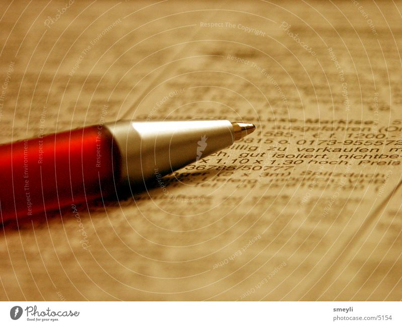 Business Work and employment Characters Letters (alphabet) Write Newspaper Pen Magazine Advertisement Ballpoint pen Writing utensil