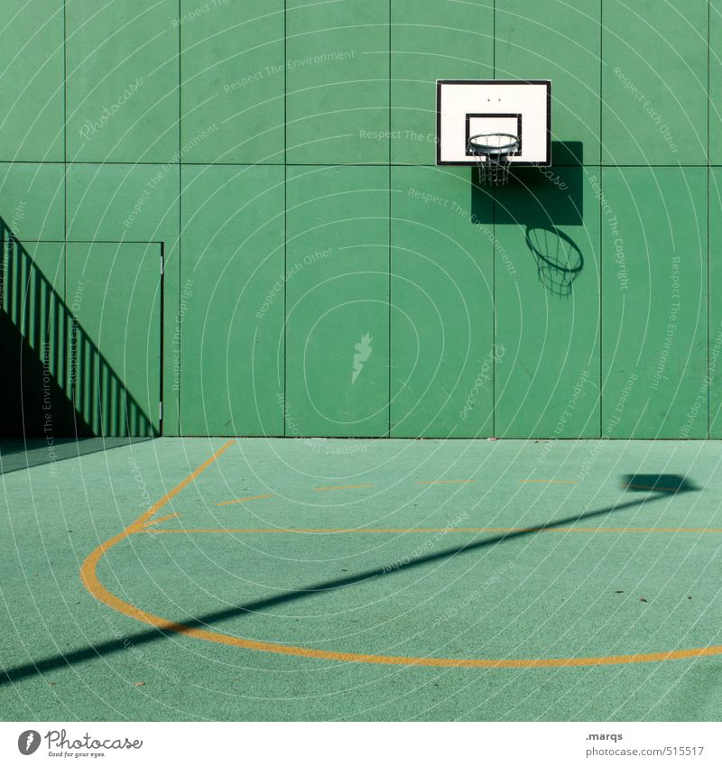 Green Wall (building) Sports Wall (barrier) Playing Style Leisure and hobbies Lifestyle Arrangement Modern New Hip & trendy Sporting event Basketball