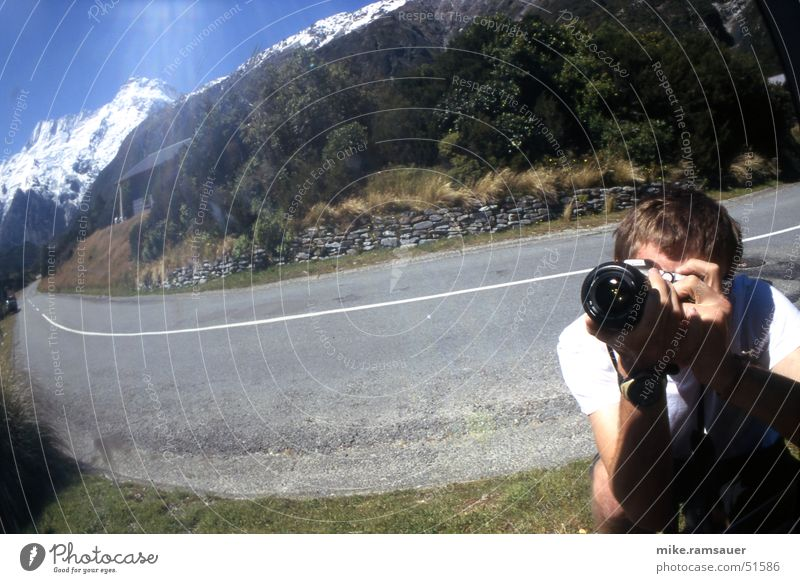 Street Line Camera Mirror Photographer Lens Distorted Shoot Provoke