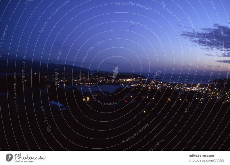 Wellington Nights New Zealand Airport victoria lookout Evening Sky