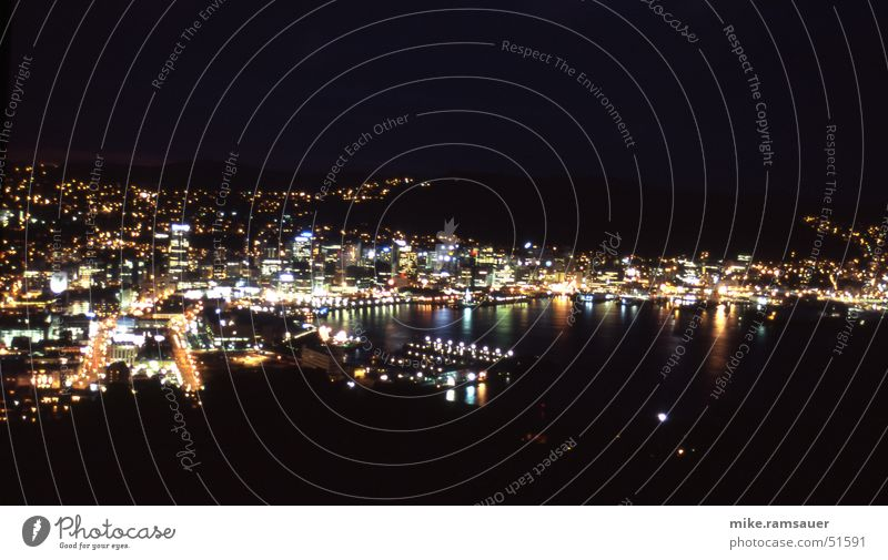 Movement Harbour Bay Exposure New Zealand Night shot Wellington