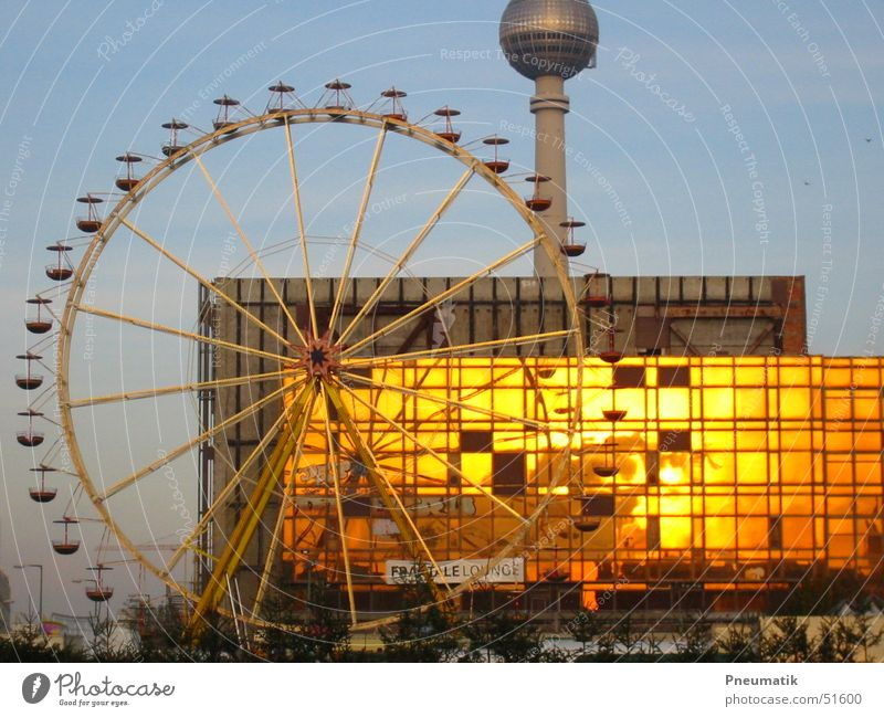 Berlin Berlin TV Tower Ferris wheel Christmas Fair Castle place Palace of the Republic