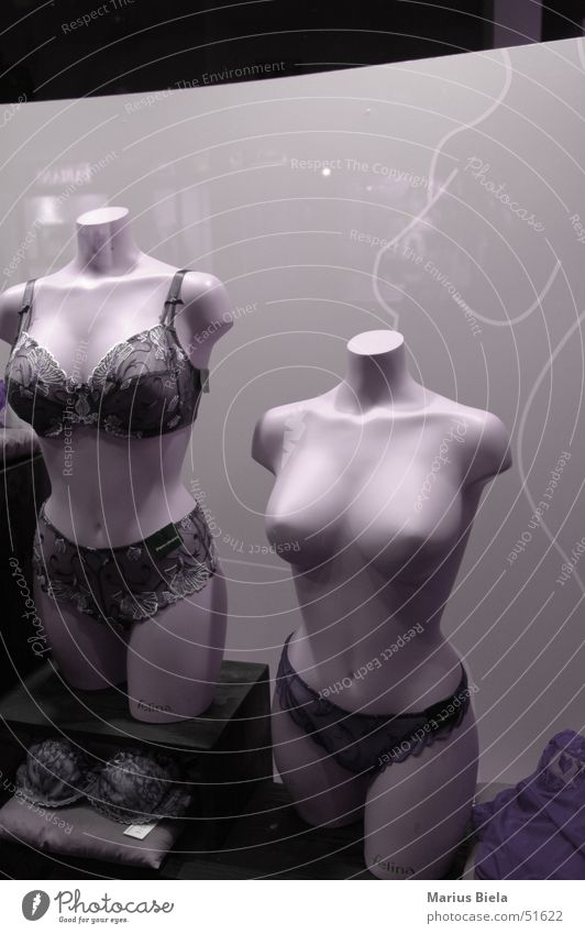 Model Breasts Chest Store premises Sell Underwear Shop window