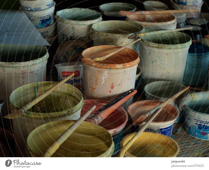 Colour Paintbrush Vessel Bucket Pottery Paint bucket Colour pot