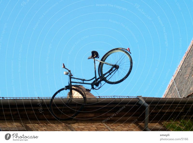 capers Bicycle Air Roof Sky Old paradoxical