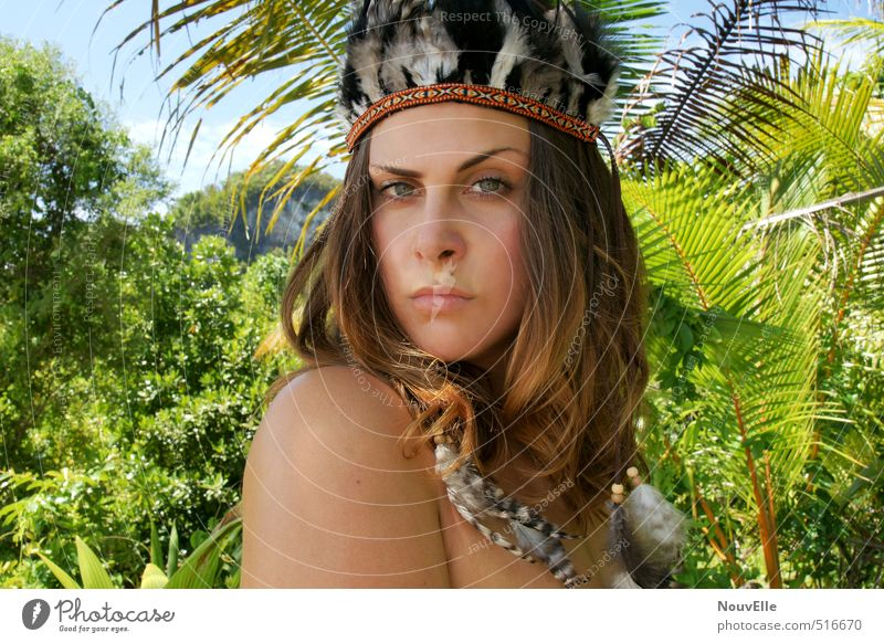 The Exception. Human being Feminine Young woman Youth (Young adults) Woman Adults Life 1 18 - 30 years Nature Summer Beautiful weather Bushes Exotic Palm tree
