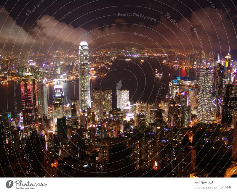 Harbour Night Hongkong Night shot Sea of light