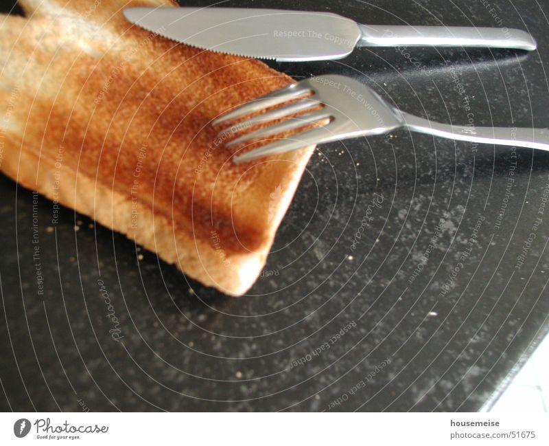 Joy Art Brown Nutrition Kitchen Image Gastronomy Breakfast Crockery Bread Knives Fork Flour Crumbs Toast General