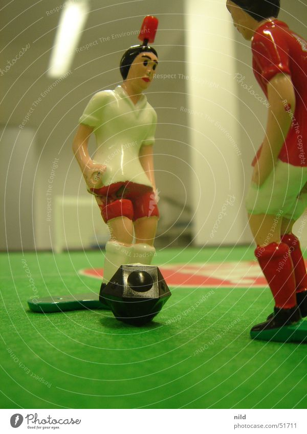 White Green Red Sports Soccer Soccer player Toys Gate Sporting event Piece Table soccer Jersey Sportswear Felt Attacker