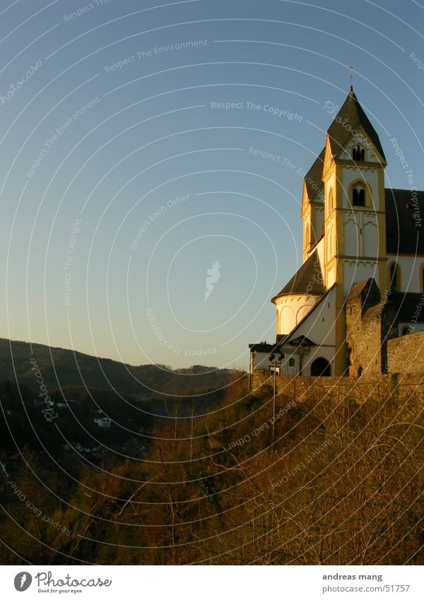 church Sunset Light Religion and faith Valley sunny church Mountain Tower Monastery towers chapell