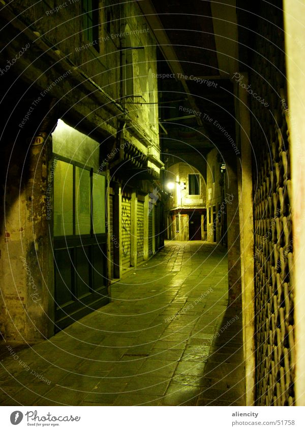 narrow, green alley Venice Alley Downtown House (Residential Structure) Entrance Narrow Green Dark Lanes & trails Door