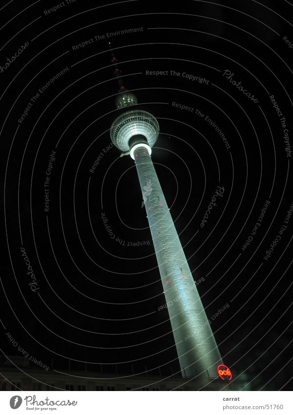 The Leaning Tower of Berlin Alexanderplatz Night Dark Light Berlin TV Tower alex Tall Contrast