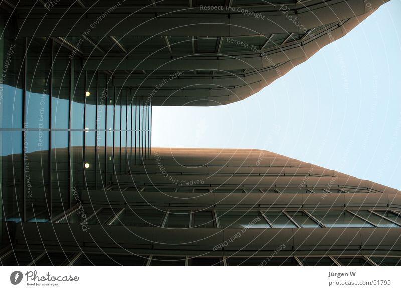 interspace High-rise Window Sky Port Glass Upward Duesseldorf