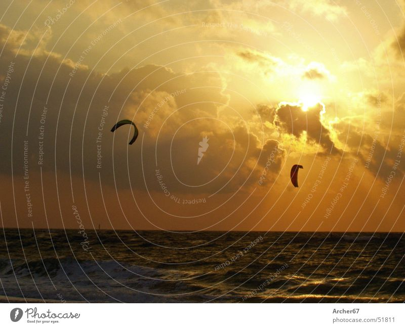 Beach Surfing Kiting