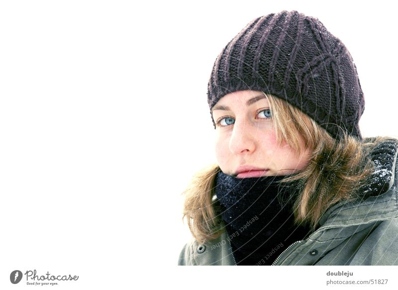 andrea in winter #1 Winter Cap Jacket Scarf Cold Portrait photograph