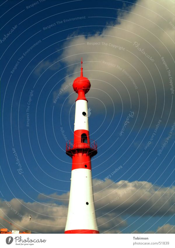 Sky White Ocean Blue Red Clouds Lamp Watercraft Coast Hope Direction Lighthouse Come Road marking Signal Mainland