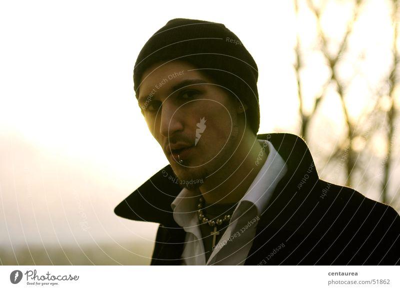 Uncle M #6 Fellow Portrait photograph Back-light Mysterious Guy ..