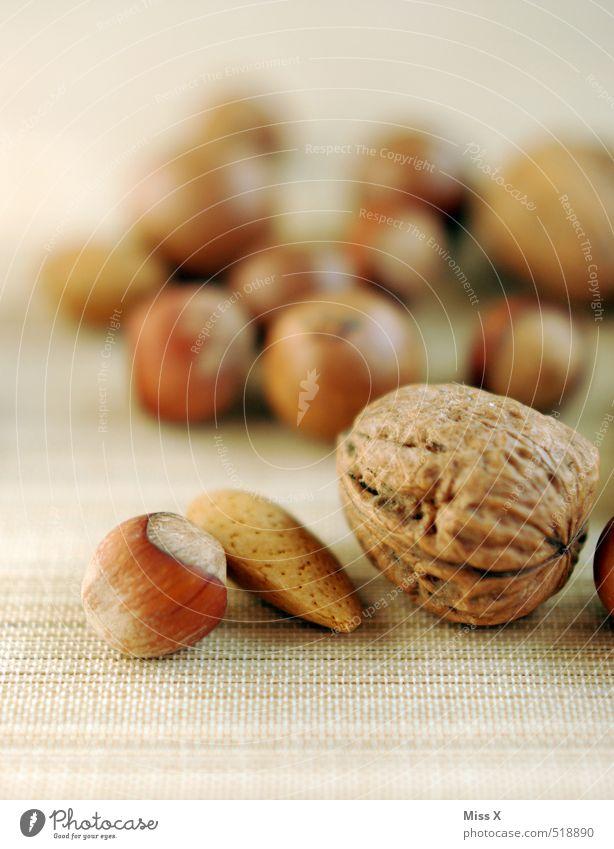 Hard mixture Food Nutrition Organic produce Vegetarian diet Christmas & Advent Healthy Delicious Nutshell Walnut Almond Hazelnut Mixed nuts and raisins