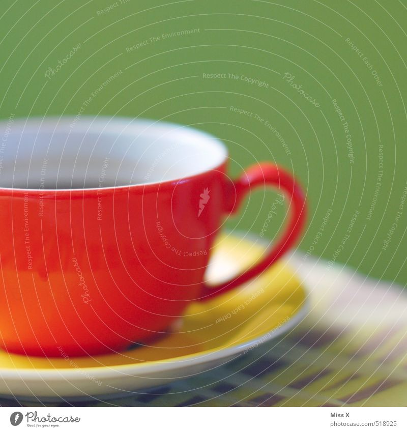 Coffee 10:20 Food Nutrition Breakfast To have a coffee Buffet Brunch Beverage Hot drink Tea Cup Restaurant Multicoloured Red Moody Happiness Colour Saucer Table