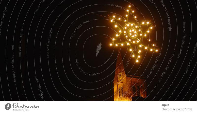Christmas & Advent Religion and faith Lighting Star (Symbol) Tower Electric bulb Christmas decoration