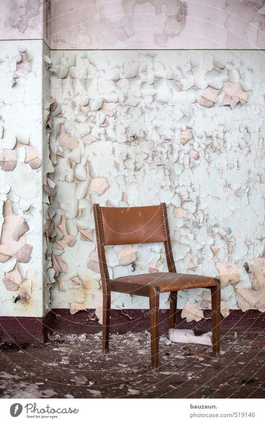ut ruhrgebiet throne. Chair Industrial plant Factory Ruin Wall (barrier) Wall (building) Stairs Stone Wood Utilize Sit Dirty Creepy Broken Trashy Gloomy Brown