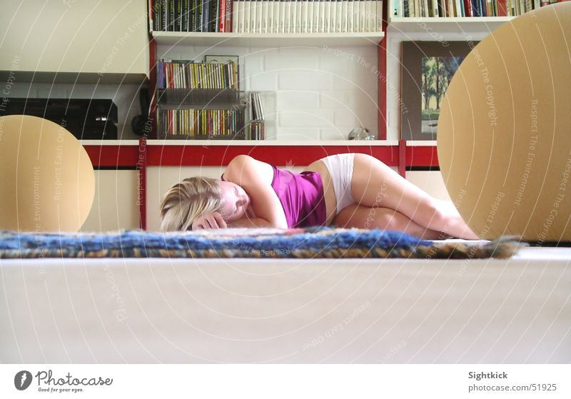 Woman Calm Life Room Sleep Living or residing Carpet Floor covering