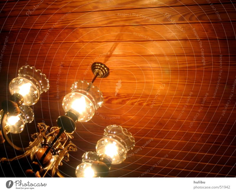 Grandma's Chandelier Light Lamp Wood Wooden ceiling Shadow