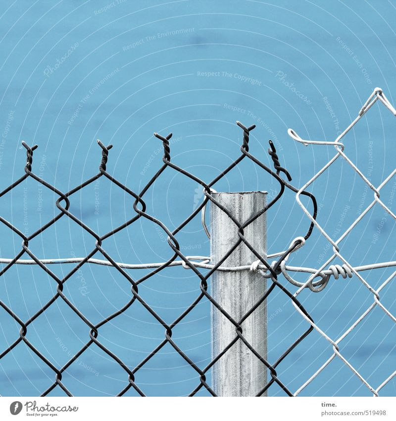 xx|x Construction site Craft (trade) Wall (barrier) Wall (building) Fence Wire netting Wire netting fence steel pipe Wire fence Wire mesh Wiry Metal Crucifix