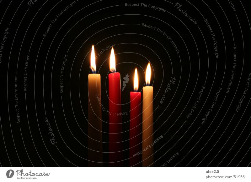 White Red Black Dark Lighting Candle Burn Flame Awareness