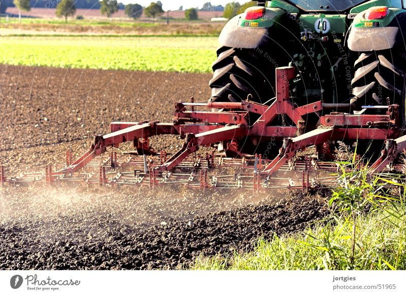 Field Working in the fields Agriculture Dust Agricultural machine Tractor Plow