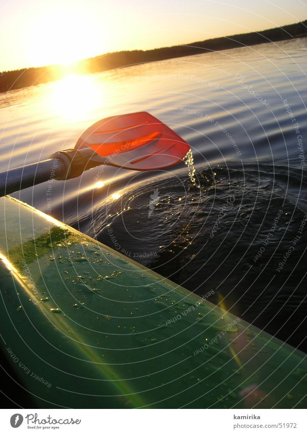 against the current Paddle Sunset Kayak Canoe Reflection Poland Water Drops of water Float in the water
