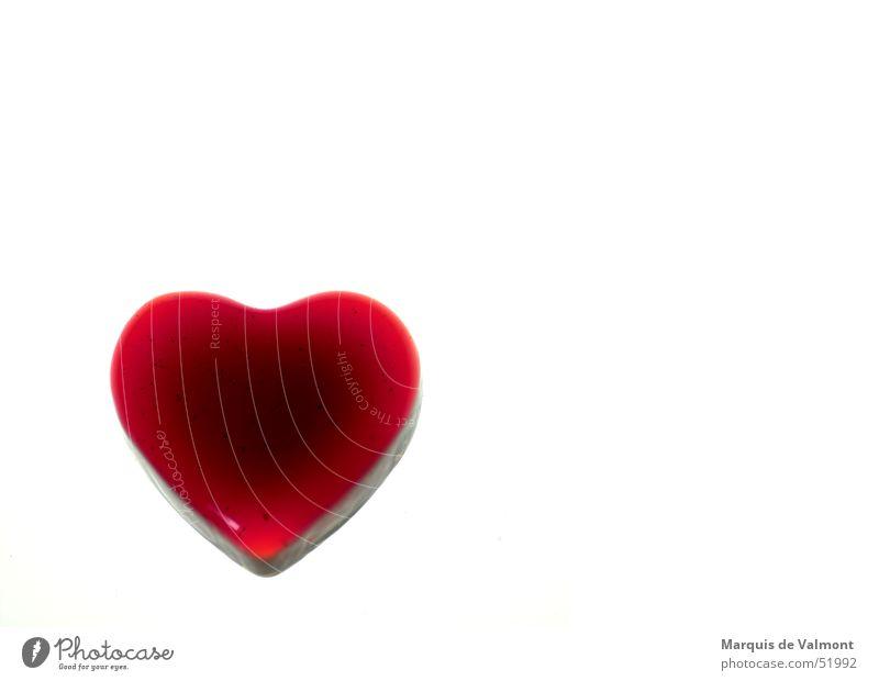 Red Love Heart Glass Valentine's Day