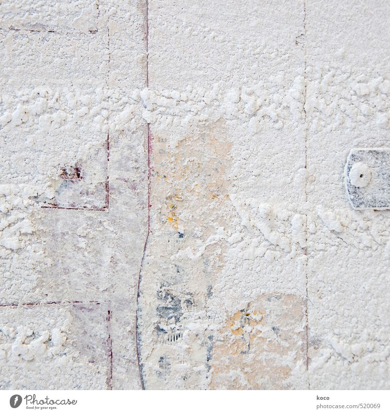 white as snow. Wall (barrier) Wall (building) Facade Stone Sand Line Old Yellow Gray Red White Decline Snow Colour photo Subdued colour Exterior shot Close-up